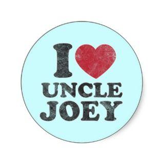 Vintage I Love Uncle Joey Sticker