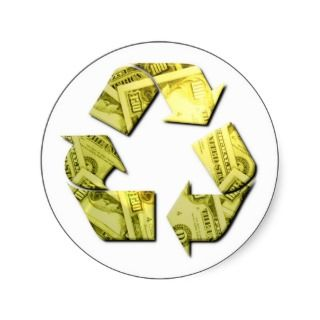 Save Money Recycle Stickers