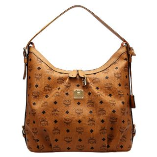 MCM Vintage Visetos Hobo Bag Cognac Women Handbag Authentic New NWT