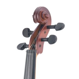 Mendini 4 4 MV300 Solid Wood Violin in Satin Finish with Hard Case New