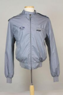 Vtg 80s Gray Members Only Ford Jacket Cafe Racer 44