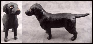 Black Labrador Retriever Dog Cast Iron Doorstop Bank Statue