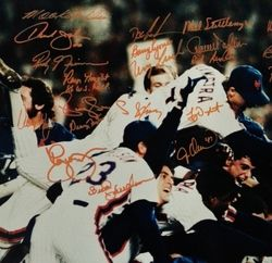 1986 New Nork Mets Championship Team Signed Autographed 16x20 PSA DNA