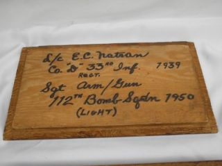 Antique US Army Soldier Keepsake Mens Wood Dresser Box Personalized