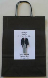 Wedding Gift Bag 3D Groom Best Man Bridemaid Pageboy 31x24x10cm