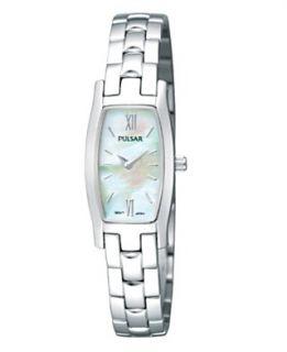 Pulsar Watch, Womens Stainless Steel Bracelet PEGF23