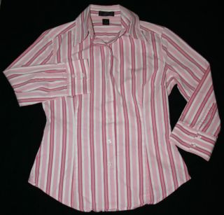 Express Pink Striped Dress Shirt XS Button Down Long Sleeve Top Blouse