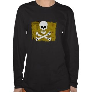 Jolly Roger Map #3 T shirts