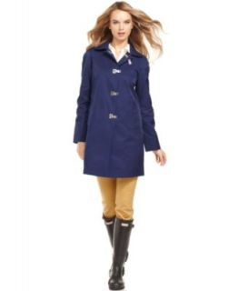 DKNY Coat, Ruffle Trim Walker Raincoat   Womens Coats