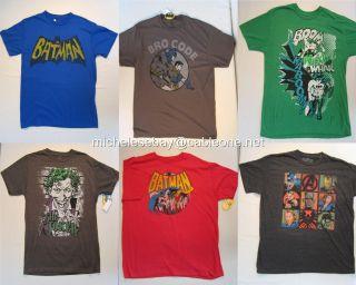 Mens Batman T Shirt Robin Joker s M L XL Super Heroes Vintage Many