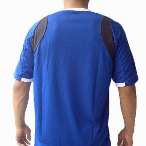 Mizuno Mens Soccer Volleyball Athletic Shirt V Neck Polyester Blue L