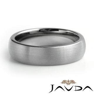 Mens Tungsten Carbide Wedding Band Dome Brushed Comfort Fit 6mm Ring
