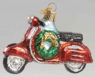 Merck Familys Old World Christmas Ornament Motor Scooter 8859923