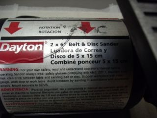 Dayton 2 x 6 Belt Disc Sander