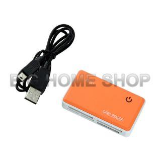 USB 2 0 CF SD XD M2 TF MS Memory Card Reader Writer Orange USA