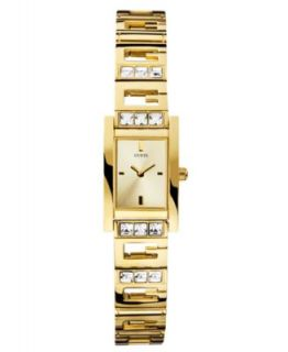 GUESS Watch, Womens Gold Tone Stainless Steel Bangle Bracelet 24x21mm