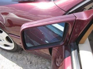 Mercedes Benz R129 SL Left Driver Side View Mirror Door Maroon Red OEM