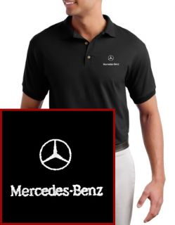 Mercedes Benz Logo Embroidered Black Polo Shirt