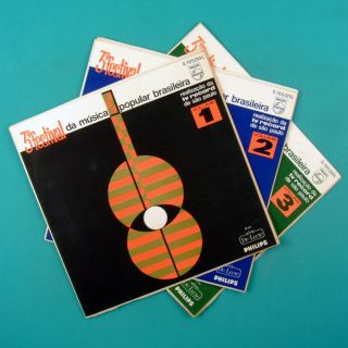 LP 3 Festival de Musica Popular Brasileira Vol 1 2 3 Gal Gil Edu