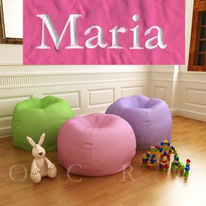 Pottery Barn Kids Bright Pink Anywhere Beanbag Slipcover Maria Regular