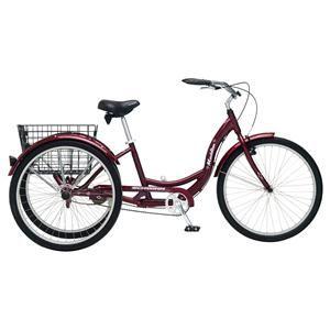 Schwinn 26 Meridian Adult Tricycle Black Cherry