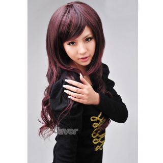 New Sexy Full Fluffy Long Wavy Curly Hair Wigs Side Bang Adjustable