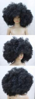 Halloween Mens Black Afro Curly Wig Unisex Fancy HA1