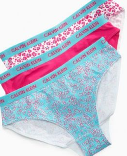 Calvin Klein Kids Underwear, Girls 3 Pack Bikini Briefs