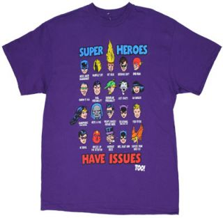 Super Heroes Have Issues Too DC Comics T Shirt