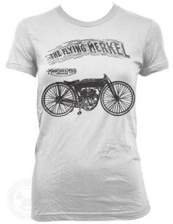 The Flying Merkel Vintage Motorcycle on American Apparel Ladies 2102 T