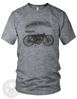 The Flying Merkel Vintage Motorcycle Bike American Apparel TR401 Track