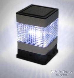 Solar Fence Post Topper Light LED Stainless Steel Set of 4