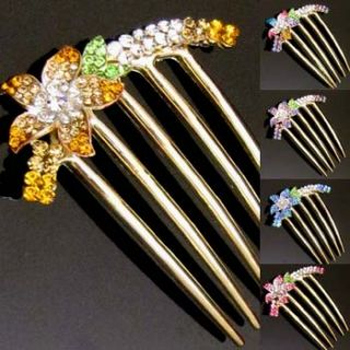 this gorgeous metal hair comb french twist with sparkling austrian