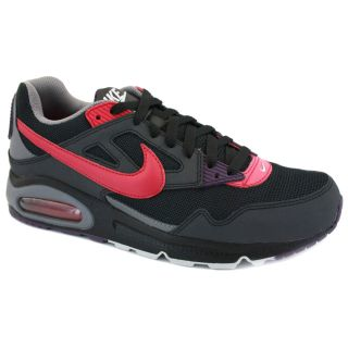 Nike Air Max Skyline Mesh Leather Trainers Black Anthracite