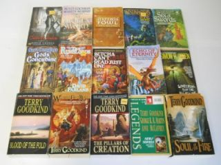 Fantasy Science Fiction Paperback Books ~Terry Brooks ~Mercedes Lackey