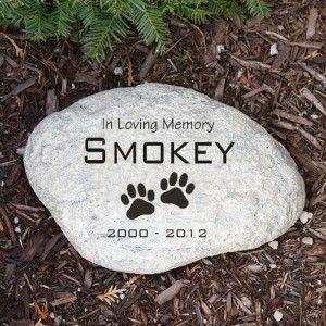 Memorial Garden Stone Engraved Dog Memorial Garden Stone Marker