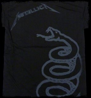Metallica Black Album Black Snake T Shirt Official Fast SHIP
