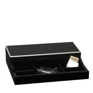 Handcrafted Socrates Mens Jewelry Valet Watch Box Case Locking Storage