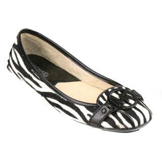 Michael by Michael Kors Fulton Flat Black White Size 6 5 New