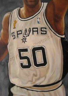 David Robinson San Antonio Spurs Canvas Oil Painting