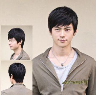 Chic Style Fashion Mens Handsome Boys Short Black Casual Full Hair