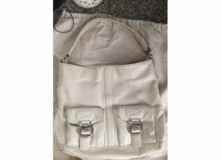 Michael Kors Off White Leather Hobo Shopper Handbag