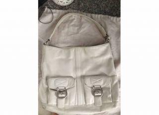 Michael Kors Off White Leather Hobo Shopper Handbag