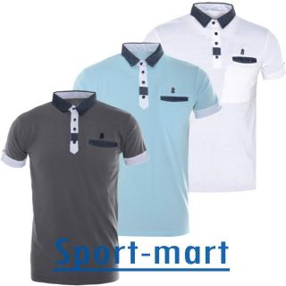 Hacienda Contrast Collar Polo T Shirts Mens Size s to XL