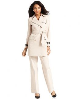 Anne Klein Suit, Belted Trench Jacket & Pants   Womens Suits & Suit