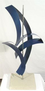 Abstract Stainless Steel Metal Sculpture by R Walker
