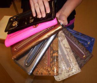 Michael Kors Newbury Clutch Wallet Wristlet Gunmetal