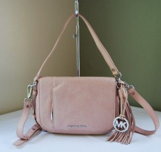 298 Michael Kors Bowen Python Convertible Shoulder Bag Blush