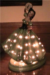 Vintage 1970s Novelty Ceramic Lamp Lady Spanish Dancer TV Lamp