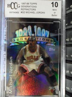 1997 98 TOPPS GENERATIONS MICHAEL JORDAN REFRACTORS CARD #G2 BCCG 10